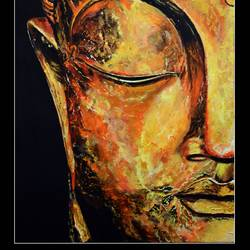 lord buddha, 23 x 18 inch, prime international,23x18inch,canvas,paintings,buddha paintings,paintings for dining room,paintings for living room,paintings for bedroom,paintings for hotel,paintings for school,acrylic color,GAL01282622944