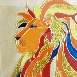 lion king, 6 x 8 inch, deepti agrawal,6x8inch,acrylic glass,paintings,abstract paintings,wildlife paintings,figurative paintings,pop art paintings,paintings for kids room,paintings for school,paintings for hospital,acrylic color,GAL0596822947
