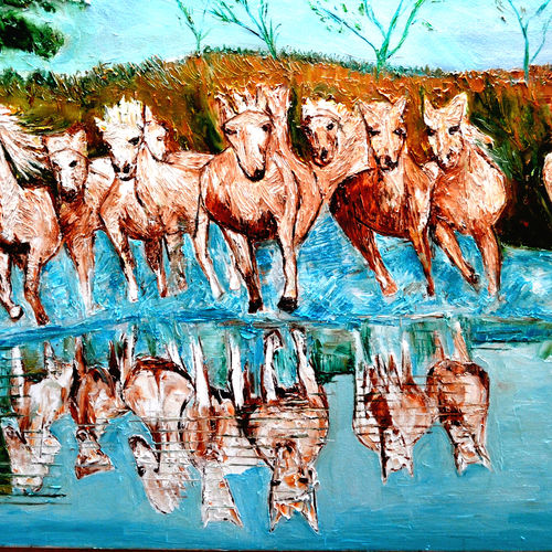 on a jurney, 70 x 36 inch, anand manchiraju,70x36inch,canvas,paintings,wildlife paintings,paintings for dining room,paintings for living room,paintings for bedroom,paintings for office,paintings for kids room,paintings for hotel,paintings for hospital,paintings for dining room,paintings for living room,paintings for bedroom,paintings for office,paintings for kids room,paintings for hotel,paintings for hospital,oil color,GAL01254022949