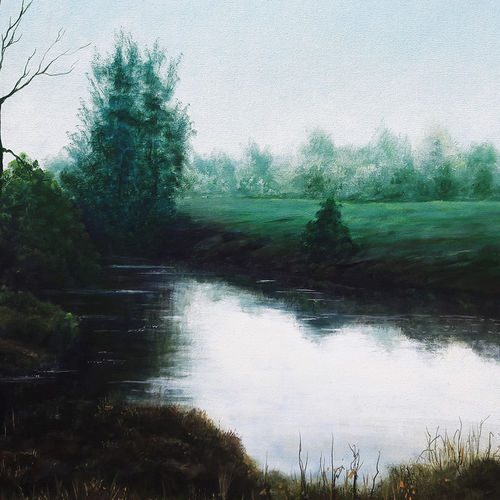 morning shades, 36 x 30 inch, seby augustine,36x30inch,canvas,paintings,landscape paintings,still life paintings,realism paintings,paintings for dining room,paintings for living room,paintings for bedroom,paintings for office,paintings for kids room,paintings for hotel,paintings for kitchen,paintings for school,paintings for hospital,acrylic color,GAL015022966