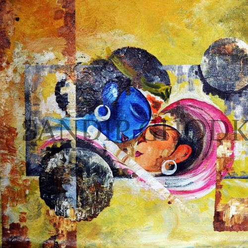 radha krishna-13, 30 x 20 inch, dinesh ghodke,abstract paintings,paintings for bedroom,radha krishna paintings,love paintings,canvas,acrylic color,30x20inch,GAL08682299heart,family,caring,happiness,forever,happy,trust,passion,romance,sweet,kiss,love,hugs,warm,fun,kisses,joy,friendship,marriage,chocolate,husband,wife,forever,caring,couple,sweetheart,krishna,Lord krishna,krushna,radha krushna,flute,peacock feather,melody,peace,religious,god,love,romance