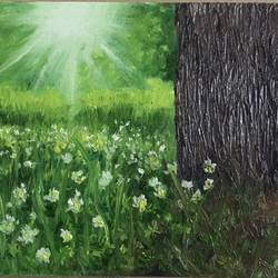 sunshine , 10 x 8 inch, anitta paul,10x8inch,canvas board,paintings,nature paintings,oil color,GAL01159022999