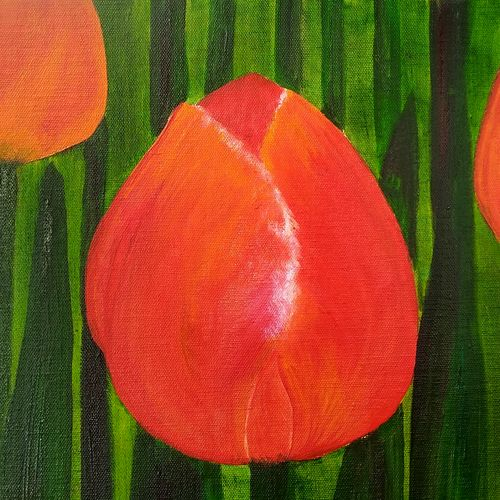 tulips in red, 12 x 12 inch, nebulah art studio,12x12inch,canvas board,flower paintings,nature paintings,art deco paintings,cubism paintings,paintings for dining room,paintings for living room,paintings for bedroom,paintings for office,paintings for kids room,paintings for hotel,paintings for hospital,paintings for dining room,paintings for living room,paintings for bedroom,paintings for office,paintings for kids room,paintings for hotel,paintings for hospital,acrylic color,oil color,GAL01173123013