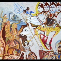 lord sivasmarrage procession, 64 x 34 inch, anand manchiraju,64x34inch,canvas,paintings,lord shiva paintings,paintings for dining room,paintings for living room,paintings for bedroom,paintings for office,paintings for kids room,paintings for hotel,paintings for hospital,paintings for dining room,paintings for living room,paintings for bedroom,paintings for office,paintings for kids room,paintings for hotel,paintings for hospital,acrylic color,GAL01254023021