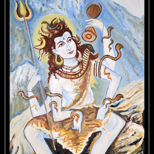 lord siva-the creator, 36 x 63 inch, anand manchiraju,36x63inch,canvas,paintings,figurative paintings,lord shiva paintings,paintings for dining room,paintings for living room,paintings for bedroom,paintings for hotel,paintings for hospital,paintings for dining room,paintings for living room,paintings for bedroom,paintings for hotel,paintings for hospital,acrylic color,GAL01254023024