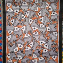 fish painting, 32 x 23 inch, neeraj jha,32x23inch,cartridge paper,paintings,madhubani paintings,paintings for dining room,paintings for living room,paintings for bedroom,paintings for office,paintings for kids room,paintings for hotel,paintings for kitchen,paintings for school,paintings for hospital,fabric,natural color,GAL01278423049