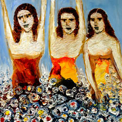 girls with flowers, 20 x 30 inch, anand manchiraju,20x30inch,canvas,flower paintings,paintings for dining room,paintings for living room,paintings for bedroom,paintings for office,paintings for bathroom,paintings for kids room,paintings for hotel,paintings for kitchen,paintings for school,paintings for hospital,paintings for dining room,paintings for living room,paintings for bedroom,paintings for office,paintings for bathroom,paintings for kids room,paintings for hotel,paintings for kitchen,paintings for school,paintings for hospital,oil color,GAL01254023059