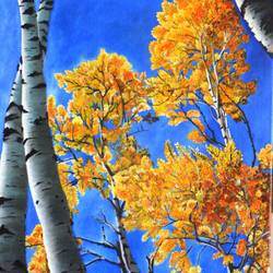 yellow leaves, 18 x 24 inch, srishti sarawagi,flower paintings,paintings for office,nature paintings,paintings for living room,canvas,oil,18x24inch,GAL08942307Nature,environment,Beauty,scenery,greenery