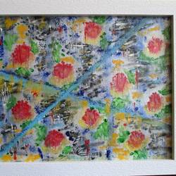 bleeding flowers, 10 x 8 inch, savitha krushnen,10x8inch,canvas board,paintings,abstract paintings,paintings for office,acrylic color,GAL01300123071