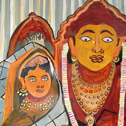 radha krishna-2, 13 x 17 inch, anand manchiraju,13x17inch,ivory sheet,paintings,radha krishna paintings,paintings for dining room,paintings for living room,paintings for bedroom,paintings for office,paintings for hotel,paintings for hospital,acrylic color,GAL01254023080