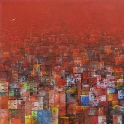 colorfully city, 60 x 24 inch, m. singh,60x24inch,canvas,paintings,abstract paintings,cityscape paintings,modern art paintings,nature paintings,impressionist paintings,contemporary paintings,paintings for dining room,paintings for living room,paintings for bedroom,paintings for office,paintings for kids room,paintings for hotel,paintings for school,paintings for hospital,acrylic color,GAL0537723081