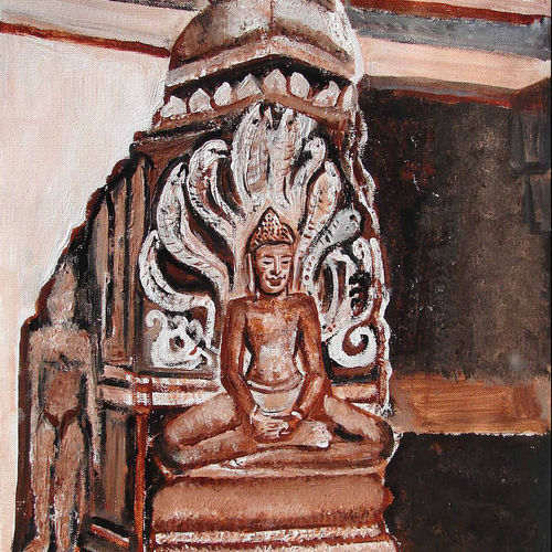 indian heritage-4, 16 x 24 inch, anand manchiraju,16x24inch,canvas,paintings,buddha paintings,paintings for dining room,paintings for living room,paintings for bedroom,paintings for office,paintings for hotel,paintings for hospital,acrylic color,GAL01254023091