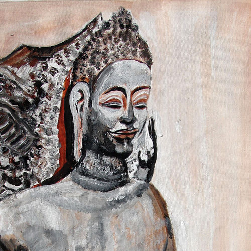 indian heritage-5, 16 x 24 inch, anand manchiraju,16x24inch,canvas,paintings,buddha paintings,paintings for dining room,paintings for living room,paintings for bedroom,paintings for office,paintings for hotel,paintings for hospital,acrylic color,GAL01254023092