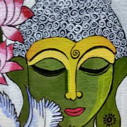 god of peace , 10 x 12 inch, madhusmita choudhury,10x12inch,hardboard,paintings,buddha paintings,paintings for living room,paintings for office,paintings for hotel,acrylic color,GAL0670923094