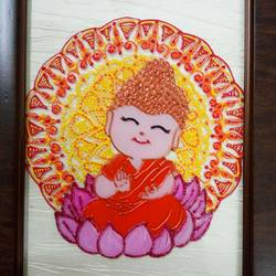 little buddha, 6 x 8 inch, deepti agrawal,6x8inch,acrylic glass,paintings,buddha paintings,paintings for kids room,paintings for school,paintings for hospital,acrylic color,GAL0596823130
