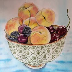 summer fruits , 8 x 12 inch, smita yadav,8x12inch,brustro watercolor paper,still life paintings,watercolor,GAL01310423140