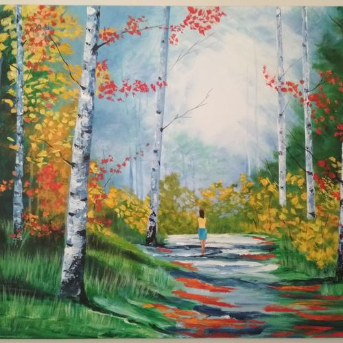 woods, 30 x 24 inch, anita hasurkar,30x24inch,canvas,paintings,landscape paintings,conceptual paintings,nature paintings,expressionist paintings,impressionist paintings,contemporary paintings,paintings for dining room,paintings for living room,paintings for bedroom,paintings for office,paintings for bathroom,paintings for kids room,paintings for hotel,paintings for school,paintings for hospital,acrylic color,GAL01016123157