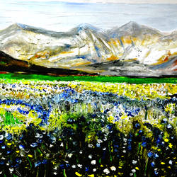 valley of flowers-7, 44 x 26 inch, anand manchiraju,44x26inch,canvas,paintings,flower paintings,paintings for dining room,paintings for living room,paintings for bedroom,paintings for office,paintings for hotel,paintings for hospital,oil color,GAL01254023186