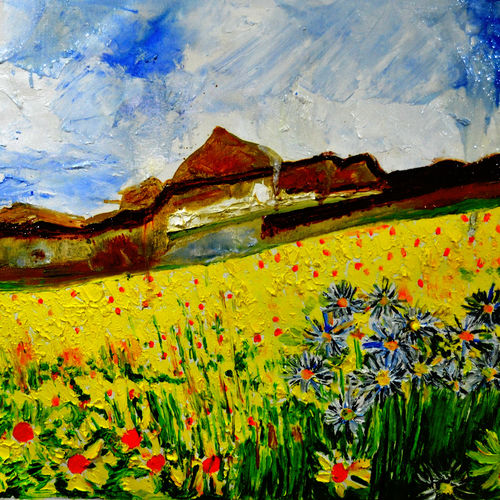 valley of flowers-8, 44 x 26 inch, anand manchiraju,44x26inch,canvas,paintings,flower paintings,paintings for dining room,paintings for living room,paintings for bedroom,paintings for office,paintings for kids room,paintings for hotel,paintings for hospital,oil color,GAL01254023188
