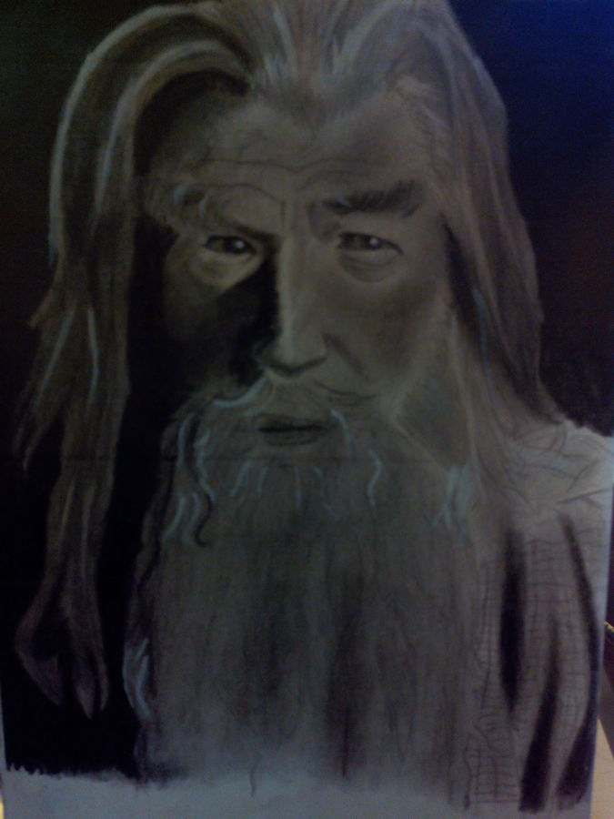 gandalf the grey, 8 x 10 inch, gandhar vamburkar,portrait drawings,paintings for living room,paper,pencil color,8x10inch,GAL08962319