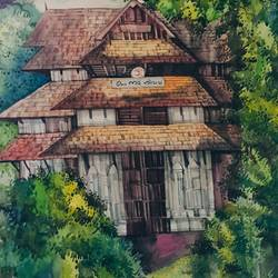 space of vadakkumnathan, 18 x 27 inch, haricreative spot,18x27inch,thick paper,paintings,nature paintings,watercolor,GAL01306723195