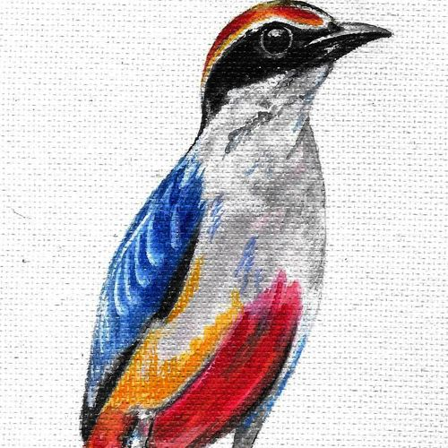 birds , 7 x 9 inch, hari  kashyap,7x9inch,handmade paper,paintings,wildlife paintings,paintings for living room,paintings for office,paintings for kids room,paintings for living room,paintings for office,paintings for kids room,acrylic color,watercolor,GAL0538423201