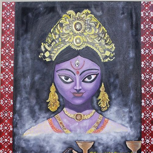 maa kali , 24 x 36 inch, subhash gijare,24x36inch,canvas,paintings,figurative paintings,religious paintings,realistic paintings,paintings for dining room,paintings for living room,paintings for office,paintings for kids room,paintings for hotel,paintings for school,paintings for hospital,acrylic color,oil color,GAL013823211