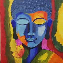 buddha, 12 x 12 inch, tanya singh,12x12inch,canvas,paintings,buddha paintings,paintings for dining room,paintings for living room,paintings for bedroom,paintings for office,paintings for hospital,paintings for dining room,paintings for living room,paintings for bedroom,paintings for office,paintings for hospital,acrylic color,GAL0509723217