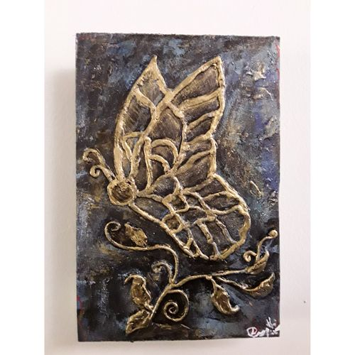 butterfly nature, 9 x 6 inch, deepthi sandeep,9x6inch,canvas,paintings,modern art paintings,nature paintings,pop art paintings,animal paintings,paintings for living room,paintings for office,paintings for hotel,acrylic color,mixed media,GAL01323723233