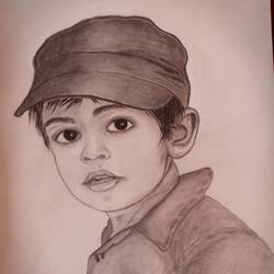 pencil art, 12 x 16 inch, goutam ashish mohapatra,12x16inch,cartridge paper,drawings,portrait drawings,kids drawings,paintings for dining room,paintings for living room,paintings for bedroom,paintings for kids room,charcoal,graphite pencil,GAL01323823237