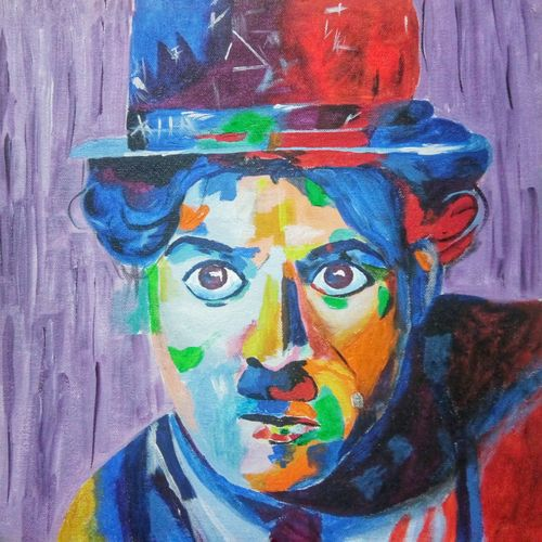 charlie chaplin, 12 x 12 inch, goutam ashish mohapatra,12x12inch,canvas board,paintings,abstract paintings,figurative paintings,modern art paintings,portrait paintings,abstract expressionist paintings,portraiture,paintings for dining room,paintings for living room,paintings for bedroom,paintings for office,paintings for bathroom,paintings for kids room,paintings for hotel,paintings for kitchen,paintings for school,paintings for hospital,acrylic color,GAL01323823240