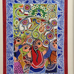 savan, 15 x 19 inch, swati jain,15x19inch,thick paper,paintings,folk art paintings,madhubani paintings,paintings for living room,paintings for bedroom,paintings for office,paintings for living room,paintings for bedroom,paintings for office,acrylic color,GAL01320723261