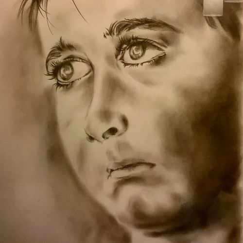 abhimanee, 12 x 18 inch, sayantan  ghati ,portrait drawings,paintings for bedroom,paper,charcoal,12x18inch,GAL07702327