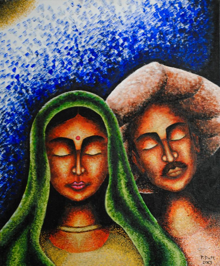 contentment, 24 x 18 inch, priyanka dutt,figurative paintings,paintings for living room,canvas,acrylic color,24x18inch,GAL08792329