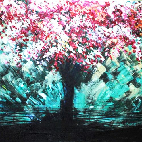tree of life, 24 x 18 inch, priyanka dutt,flower paintings,paintings for office,landscape paintings,nature paintings,paintings for living room,canvas,acrylic color,24x18inch,GAL08792332Nature,environment,Beauty,scenery,greenery
