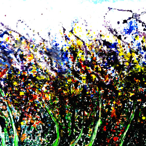 dancing trees-2, 45 x 20 inch, anand manchiraju,45x20inch,canvas,paintings,abstract paintings,paintings for dining room,paintings for bedroom,paintings for office,paintings for hotel,paintings for dining room,paintings for bedroom,paintings for office,paintings for hotel,oil color,GAL01254023332