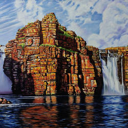 king george fall, 36 x 24 inch, yaz ahmed ansari,36x24inch,canvas,abstract paintings,landscape paintings,nature paintings,realism paintings,realistic paintings,paintings for dining room,paintings for living room,paintings for bedroom,paintings for office,paintings for hotel,paintings for dining room,paintings for living room,paintings for bedroom,paintings for office,paintings for hotel,oil color,GAL0426123333,waterfall,water,mountain