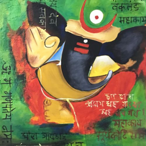 bakratundaya, 24 x 30 inch, sudesha patra,24x30inch,canvas,paintings,paintings for dining room,paintings for living room,paintings for bedroom,paintings for office,paintings for kids room,paintings for school,paintings for dining room,paintings for living room,paintings for bedroom,paintings for office,paintings for kids room,paintings for school,oil color,GAL01285123344