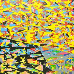 kaleidoscope , 24 x 36 inch, pooja  si ,24x36inch,canvas,paintings,abstract paintings,acrylic color,GAL01331123351