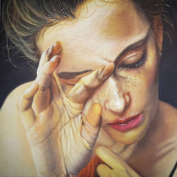 take me as i am, 36 x 24 inch, sanjeev mishra,36x24inch,canvas,paintings,figurative paintings,portrait paintings,photorealism paintings,photorealism,portraiture,realism paintings,realistic paintings,paintings for dining room,paintings for living room,paintings for bedroom,paintings for office,paintings for hotel,paintings for dining room,paintings for living room,paintings for bedroom,paintings for office,paintings for hotel,acrylic color,GAL0582323371