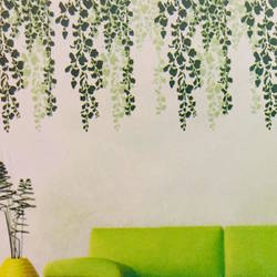 wall stencil: leaf  design wall stencil , 3 stencil (size 18x22 inches) | reusable | diy, 12 x 12 inch, wall stencil designs,12x12inch,ohp plastic sheets,flower designs,plastic,GAL0123373,GAL0123373
