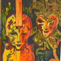 masquerade human face is no more or less than a mask, 32 x 18 inch, prachi  jain ,32x18inch,canvas,paintings,landscape paintings,modern art paintings,nature paintings,abstract expressionism paintings,street art,paintings for dining room,paintings for living room,paintings for bedroom,paintings for hotel,acrylic color,oil color,GAL0769023378