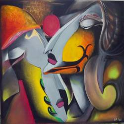 acclaimed achiever, 16 x 20 inch, shashikant  soni,abstract paintings,paintings for dining room,canvas,oil,16x20inch,GAL0101234
