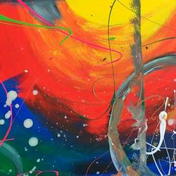 fav work, 60 x 55 inch, richa  tripathi,abstract paintings,paintings for living room,paper,oil,60x55inch,GAL09072340