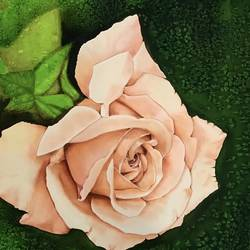 peach rose, 40 x 30 inch, mini k,40x30inch,silk,paintings,flower paintings,paintings for living room,paintings for bedroom,paintings for office,paintings for hotel,paintings for living room,paintings for bedroom,paintings for hotel,fabric,GAL0882923405