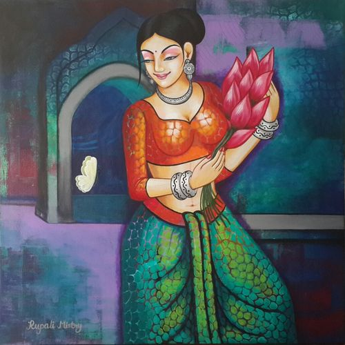 butterfly, 30 x 30 inch, rupali mistry,30x30inch,canvas,figurative paintings,acrylic color,GAL01340223413