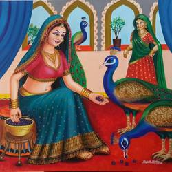peacock, 36 x 30 inch, rupali mistry,36x30inch,canvas,paintings,figurative paintings,paintings for living room,paintings for living room,acrylic color,GAL01340223420