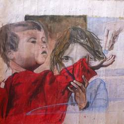 innocent child, 24 x 18 inch, akshay visualart,realism paintings,paintings for living room,paper,watercolor,24x18inch,GAL08722345