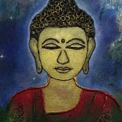 universal budha , 8 x 12 inch, deepthi sandeep,8x12inch,canvas,buddha paintings,modern art paintings,paintings for dining room,paintings for living room,paintings for office,paintings for dining room,paintings for living room,paintings for office,acrylic color,mixed media,GAL01323723458