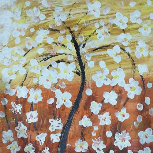 cherry blossom, 16 x 20 inch, v s gaurav narayan,16x20inch,canvas board,paintings,abstract paintings,flower paintings,nature paintings,paintings for dining room,paintings for living room,paintings for bedroom,paintings for office,paintings for bathroom,paintings for kids room,paintings for hotel,paintings for kitchen,paintings for school,paintings for hospital,acrylic color,GAL01045423476